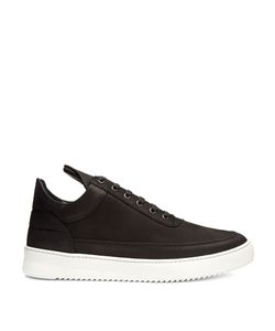 Filling Pieces | Fundament Ripple Low-Top Nubuck-Leather Trainers