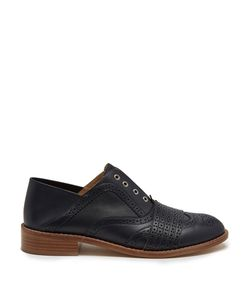 Gabriela Hearst   Moll Spectator Collapsible-Heel Leather Brogues