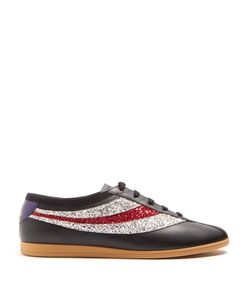 Gucci | Falacer Grained-Leather Low-Top Trainers