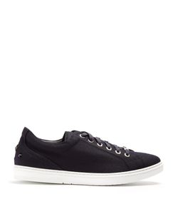 Jimmy Choo | Cash Low-Top Flannel-Wool Trainers