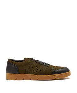 Loewe   Low-Top Leather And Suede Trainers