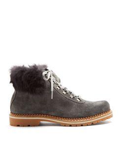 MONTELLIANA | Sequoia Fur-Trimmed Suede Après-Ski Boots