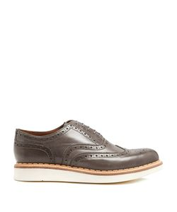 Grenson | Stanley Raised-Sole Leather Brogues