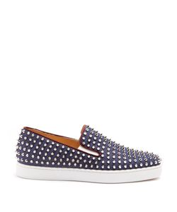 Christian Louboutin   Roller Boat Spike-Embellished Slip-On Trainers