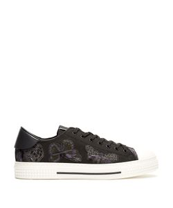 Valentino | Low-Top Butterfly-Embellished Canvas Trainers