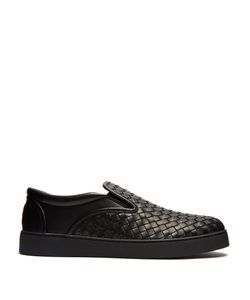 Bottega Veneta | Dodger Intrecciato Leather Slip-On Trainers