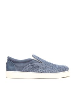Bottega Veneta | Dodger Intrecciato Suede Slip-On Trainers