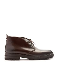 Fratelli Rossetti | Dexter Raised-Sole Leather Desert Boots
