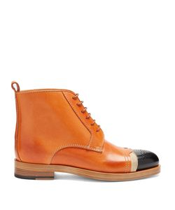 Maison Margiela | Capped-Toe Leather Ankle Boots