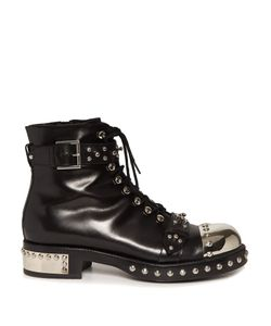 Alexander McQueen | Studded Leather Ankle Boots