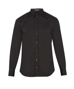 Alexander McQueen | Quilted-Harness Cotton-Blend Poplin Shirt