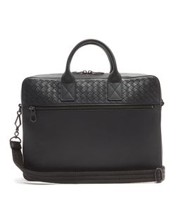 Bottega Veneta | Intrecciato-Woven Panel Leather Briefcase