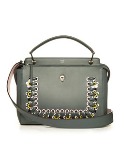 Fendi | Dotcom Flower-Appliqué Leather Bag