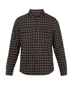 A.P.C. | Checked Wool-Blend Shirt
