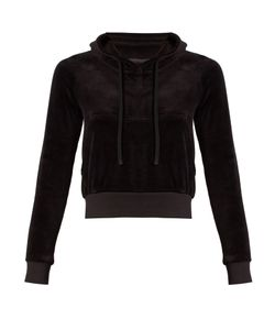 VETEMENTS | X Juicy Couture Cotton-Blend Velour Hooded Top