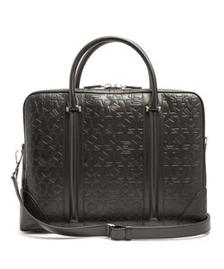 Givenchy | Logo And Star-Debossed Leather Briefcase