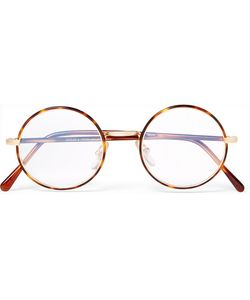 CUTLER & GROSS | Round-Frame Tortoiseshell Acetate And Tone Optical Glasses