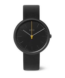 Braun | Bn017 Ceramic And Leather Watch