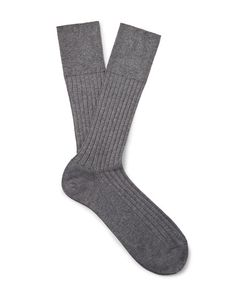 Marcoliani | Ribbed Cotton-Blend Socks