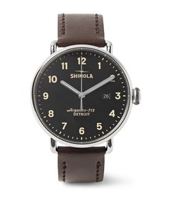 SHINOLA | The Canfield 43mm Stainless Steel And Leather Watch