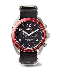 SHINOLA | The Rambler Tachymeter Chronograph 44mm Stainless Steel And Webbing