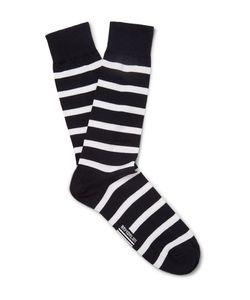 ARMOR LUX | Striped Stretch Cotton-Blend Socks