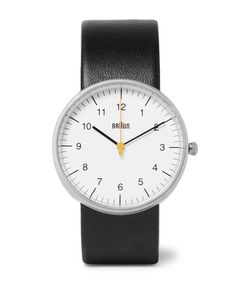 Braun | Bn002 Stainless Steel And Leather Watch