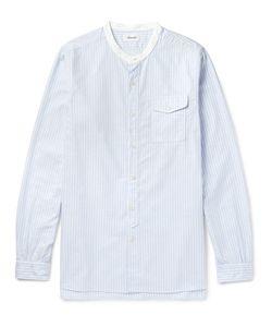 CHIMALA   Chiala Grandad-Collar Striped Cotton Oxford Shirt