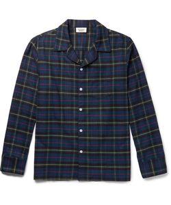 Sleepy Jones   Seepy Jones Henry Checked Cotton-Fanne Pyjama Shirt