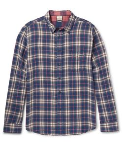Faherty | Reversible Checked Cotton-Flannel Shirt