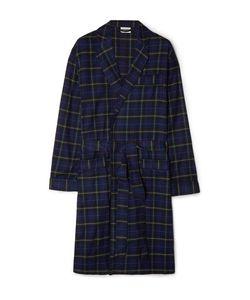 Sleepy Jones   Leepy Jone Adam Checked Cotton-Flannel Robe