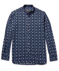 Freemans Sporting Club | Grandad-Collar Cotton-Jacquard Shirt