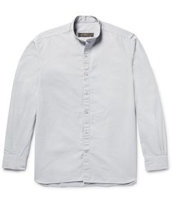 Freemans Sporting Club | Grandad-Collar Cotton-Ripstop Shirt