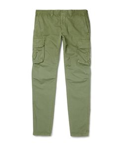 Incotex | Slim-Fit Cotton And Linen-Blend Cargo Trousers