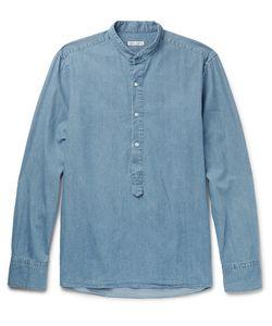 Michael Bastian | Grandad-Collar Cotton-Chambray Shirt