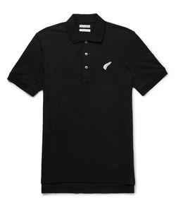 Michael Bastian | Michael Batian Embroidered Tretch-Cotton Piqué Polo Hirt