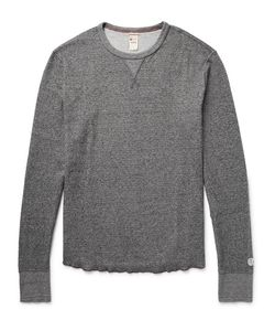 Todd Snyder + Champion | Todd Nyder Champion Honeycomb-Knit Mélange Cotton Thermal T-Hirt