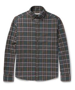 Michael Bastian | Button-Down Collar Checked Cotton-Flannel Shirt