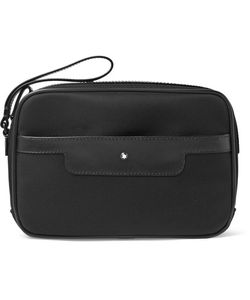 Mont Blanc | Montblanc Nightflight Leather-Trimmed Nylon Pouch