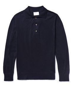 Handvaerk | Knitted Pima Cotton Polo Shirt