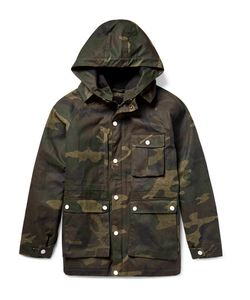 Freemans Sporting Club | Isle Of Man Camouflage-Print Waxed-Cotton Coat