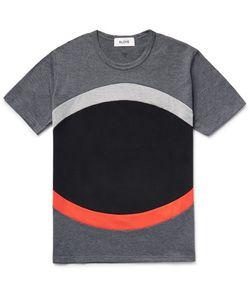 Aloye   Panelled Colour-Block Cotton-Jerey T-Hirt