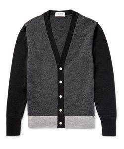 Aloye   Colour-Block Wool Cardigan
