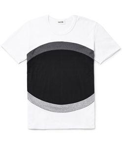Aloye | Panelled Colour-Block Cotton-Jerey T-Hirt