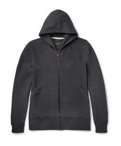 Albam | Loopback Stretch-Cotton Jersey Zip-Up Hoodie