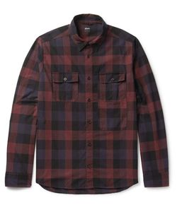 Albam | Checked Cotton-Flannel Shirt