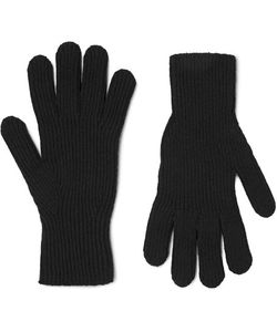 MARGARET HOWELL | Ribbed Merino Wool And Cashmere-Blend Gloves