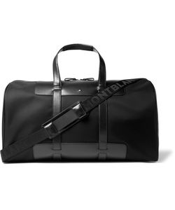 Mont Blanc | Montblanc Panelled Leather And Canvas Duffle Bag