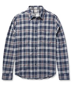 Faherty | Reversible Checked Cotton-Twill Shirt