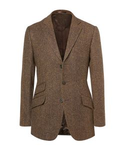 Cordings | Rish Herringbone Donegal Wool-Tweed Blazer